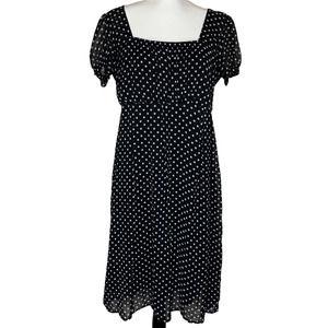 Merona Cap Sleeve Polka Dot Dress L